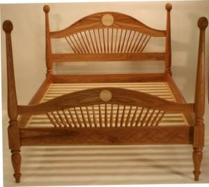 Vermont Black Cherry and Quilted Maple Full Size Bed